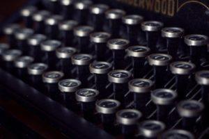 vintage, typewriter, old
