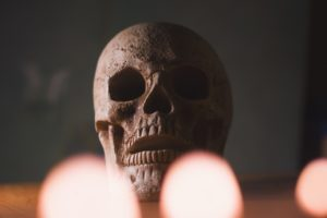 skull, head, halloween