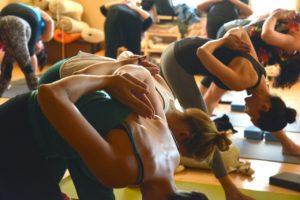 yoga, group, fitness